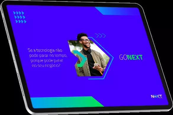 tablet com o logo da Next